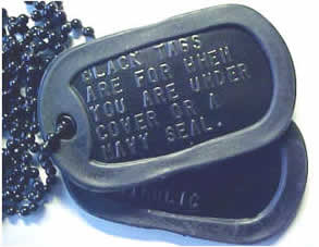 Black Stainless Steel Dog Tags