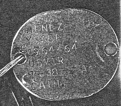 WWI Dog Tag