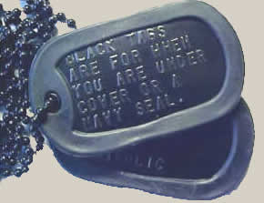 Black dog tags