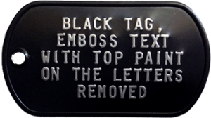Black Tag Without Paint
