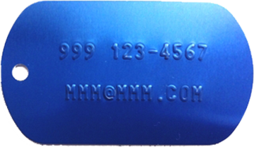 Click to order Aluminum tag for keys
