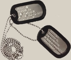 Vietnam Era Dog Tag Set