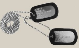 Current Army Dog Tag Set